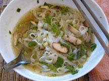Instant pho noodle bowl